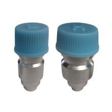 Ferramenta de reparo do condicionador de ar do motor geral r134a azul capa alta baixa porta de serviço lateral com conector de válvula jra núcleo e tampa