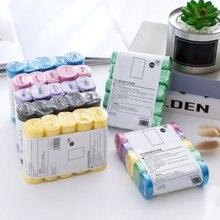 5 рулонов 100 упаковок портативные бытовые мешки для мусора