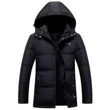 цена на New Winter Jacket Men Thick Casual Outwear 90% White Duck Down Jackets Men's Parkas Plus Size 4XL Warm Winter Coat Men Clothes