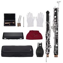 Muslady профессиональный английский Рог Alto oboe F ключ синтетический деревянный корпус посеребренные ключи деревянный духовой инструмент с тростниковыми перчатками