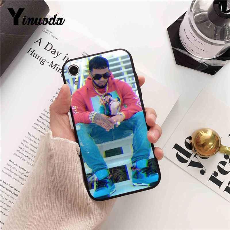 Yinuoda Anuel AA rappeur bricolage impression dessin téléphone étui pour iphone 8 7 6 6S 6plus X XS MAX 5 5S SE XR couverture
