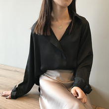 Office Lady Simple Loose Button Female Tops Blouses Retro Sweet Elegant Shirts Casual Plus Size Preppy Women  Clothing
