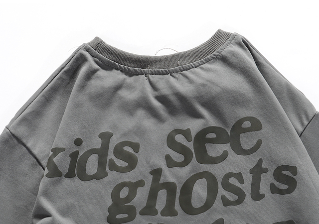 Kanye West Kids See Ghosts Oversize Men T Shirt Tour Commemorative Printed Retro Loose Harajuku Crew Neck Short Sleeve T-shirt 10