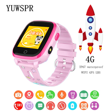Kids Tracker watches 4G Smart Watch Video call WIFI GPS LBS Positioning IP67 Waterproof Remote Camera Children Watch DF33 1pcs 4g kids smart watch gps lbs tracker sos child wifi hd remote camera smart watch compatible ios