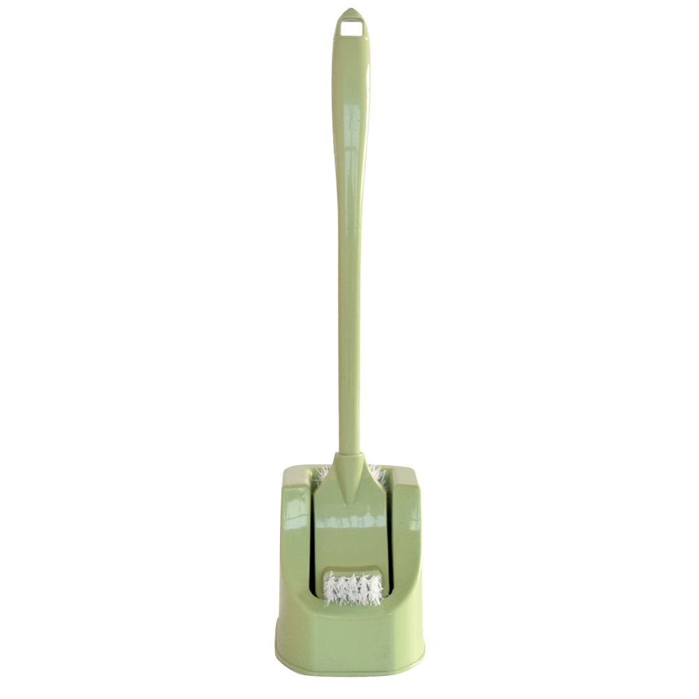 Cleaning Save Space Double-sided Long Handle Soft Toilet Brush Quick Drying Arc Free Standing Anti-drip Bathroom With Holder
