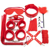 10 red BDSM set