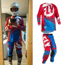 Mosca Pesce Jersey e Pantaloni Combo Motocross MX Tuta Da Corsa Dirt Bike ATV Ingranaggio di Riding Set Sottile Ciclismo Racewear S-XXL dropshipping(China)