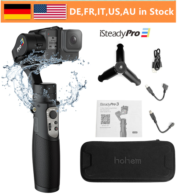 Hohem iSteady Pro 3 3 Axis Splash Proof Handheld Gimble for Gopro Hero 8 7/6/5/4/3 DJI Osmo Action SJCAM YI Cam Action Camera
