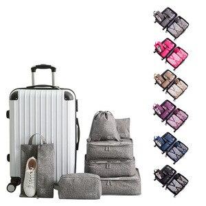 Image 3 - 7 sztuk/zestaw Cation torby podróżne wodoodporne etykiety na walizki pakowanie organizator kobiety przenośne pakowanie odzież sortowanie Case akcesoria do toreb