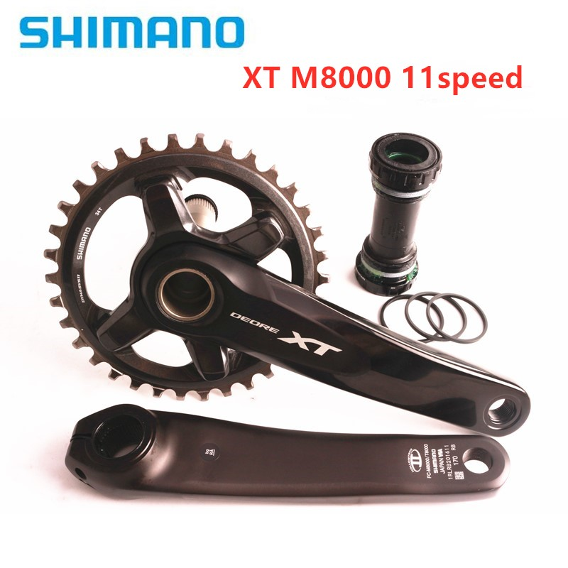 Shimano XT M8000 HOLLOWTECH II Mountain MTB Bike Crankset 170mm 175mm 30T <font><b>32T</b></font> 34T 11S 1x11 speed Crankset image