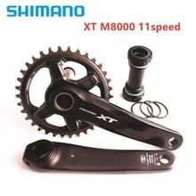 Shimano xt m8000 hollowtech ii mountain bike, pedaleira de bicicleta mtb de 170mm 175mm 30t 32t 34t 11 s 1x11 velocidade pedaleira