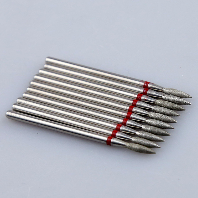 10pcs Diamond Nail Drill Bit Set Milling Cutters Nail Manicure Electric Cutter Bits Cuticle Polishing Tools Nail Accessories 3