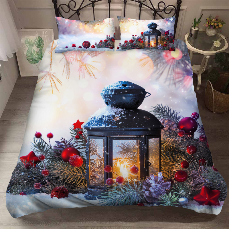 Fanaijia 3D Christmas Bedding Set Luxury Cartoon Duvet Cover Set Kids New Year's Gift Bed Covers And Comforters