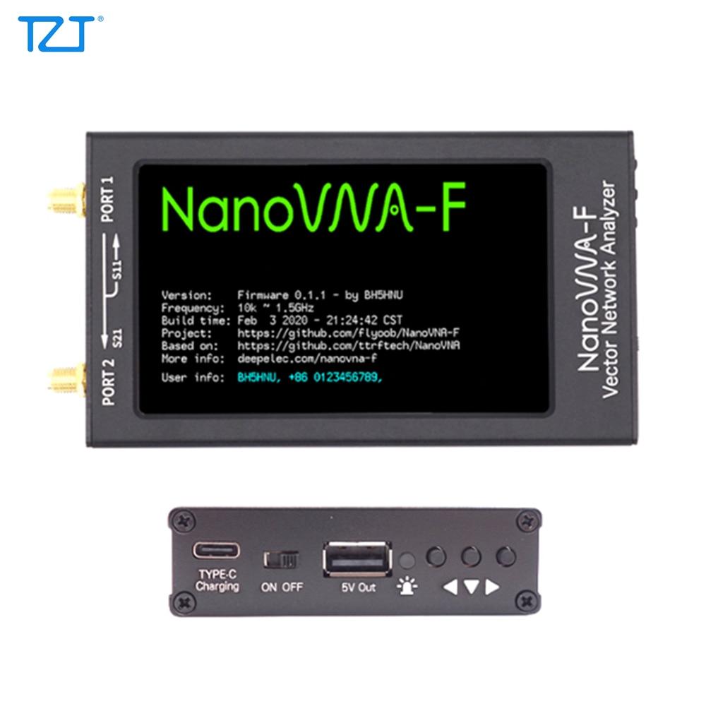 TZT 50KHz-1.5GHz HF VHF UHF VNA Vector NanoVNA Network Analyzer Kit  With 4.3