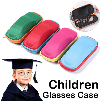 1PC Children Glasses Case Multi-function Lightweight Portable Car Shaped Eyeglasses Protector Box Fashion Glasses Accessories image