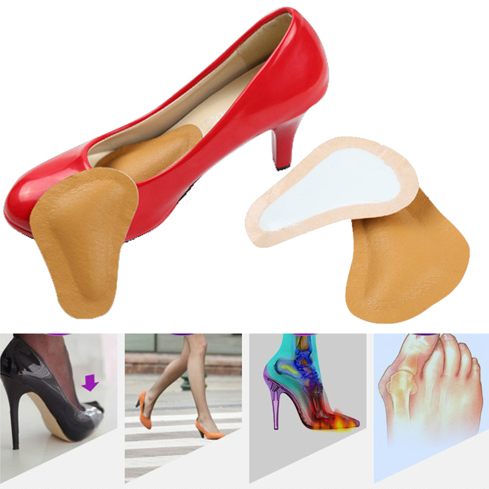 High-heeled Shoes Forefoot Pad leather Cushion Pad Orthotic Insole Half Yard Pad Metatarsal Toe Support Foot Care Tool Z28001