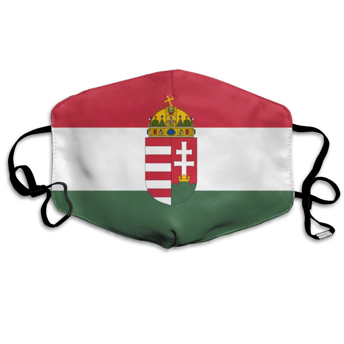 NiYoung Unisex Breathable Flag Of Hungary Mouth Mask, Adjustable Earloop   Anti Dust Pollution Face Mask For Running Cycling