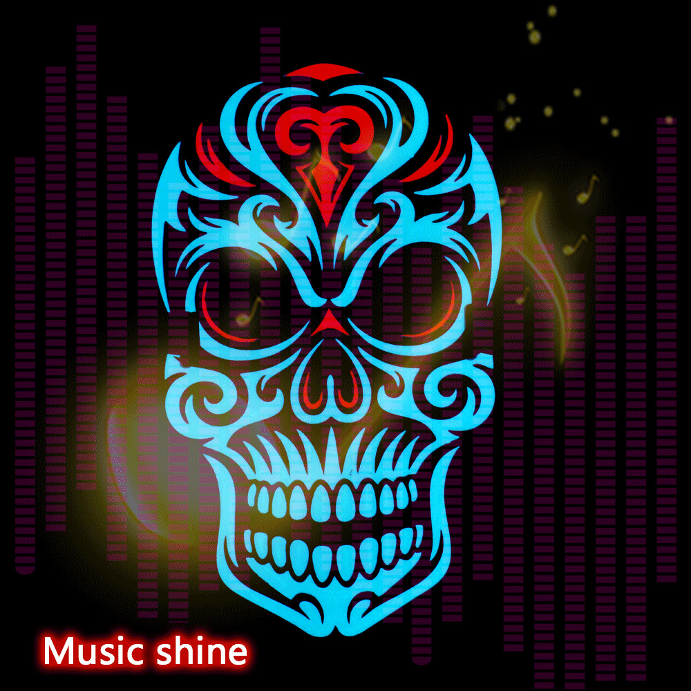 Halloween LED Mask Purge Sound Masks Election Mascara Costume DJ Party Light Up Cosplay EL Masks Glow In Dark Party Decoration