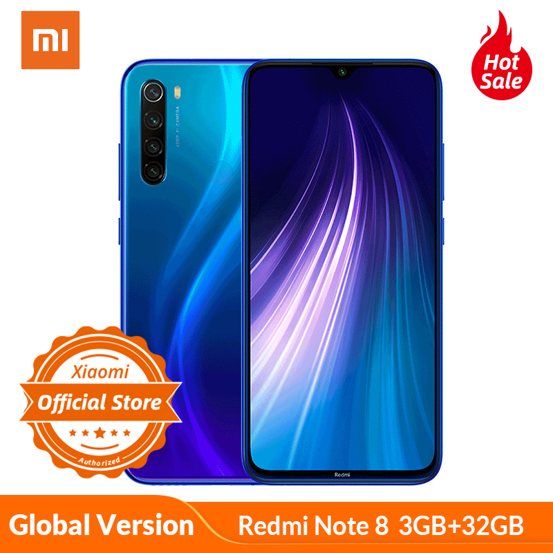 Global Version Xiaomi Redmi Note 8 3GB 32GB Mobile Phone Snapdragon 665 48MP Quad Camera Smartphone 4000mAh 6.3
