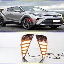 2 adet Toyota C HR CHR 2020 2021 dinamik dönüş sinyal ışığı su geçirmez ABS araba DRL LED ışık gündüz koşu işık günışığı