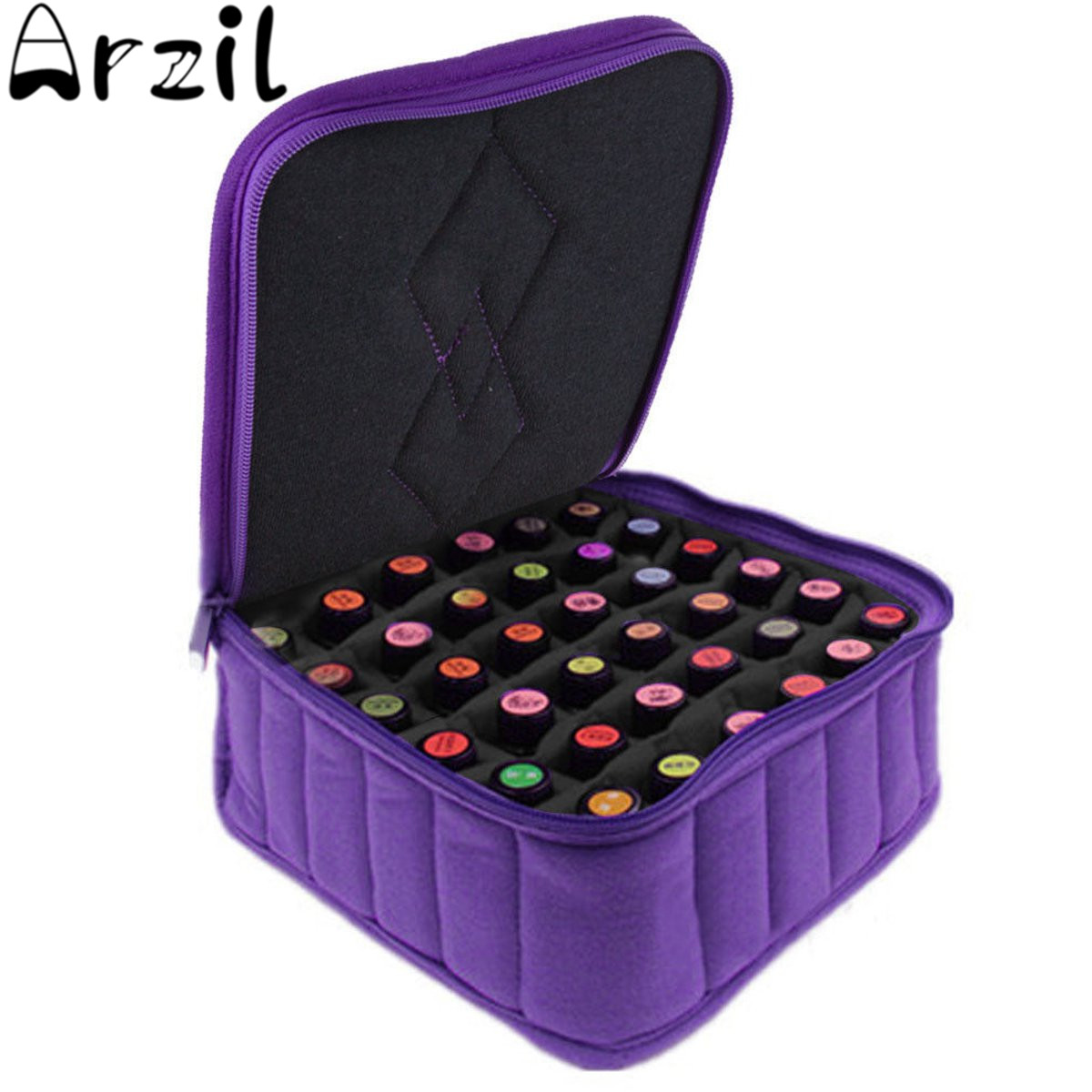 30Bottles Essential Oil Carrying Case For 5ML10ML 15ML Nail Polish Makeup Cosmetic Bag Storage Traveling Sturdy Double Zipper