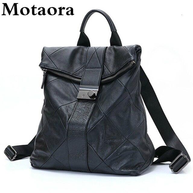 Leather Anti Theft Women Backpack Outdoor Travel Bag Large Capactiy Girl's Schoolbag Daily Knapsack Mochila Feminina Sac A Dos 1