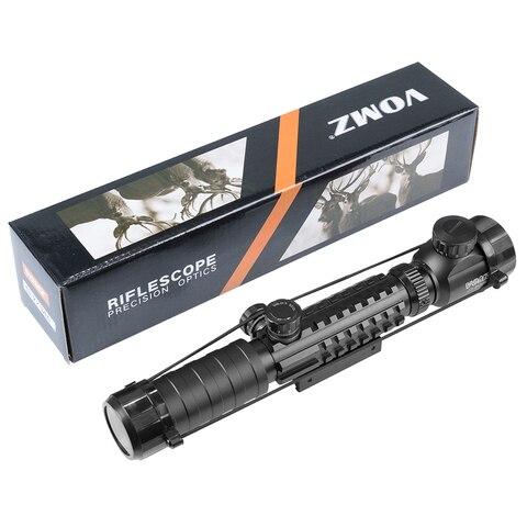 iluminado vista tactical sniper escopos com 22mm para pistola de ar