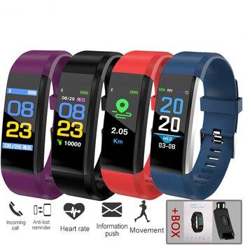115Plus Smart Watch Heart Rate Blood Pressure Smart Band Fitness Tracker Smartband Bluetooth Wristband for fitbits Smart Bracele