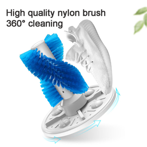 Image 4 - 3KG UV כחול אור מעקר מיני מכונת כביסה לנעליים חצי אוטומטי נעלי מכונת כביסה מכונה נעל Brusher מכונת כביסה ניידת