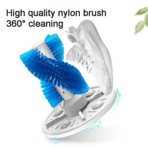 Image 4 - Mini máquina de lavar sapatos semiautomática, esterilizador de luz azul para sapatos 3kg, máquina de lavar sapatos portátil escova de sapatos