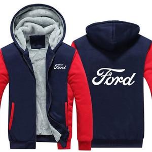 Image 4 - แฟชั่นฤดูหนาวชายเสื้อผ้าซิปFORD Sweatshirt Hoodies Coat 5 สีชายเสื้อแจ็คเก็ต