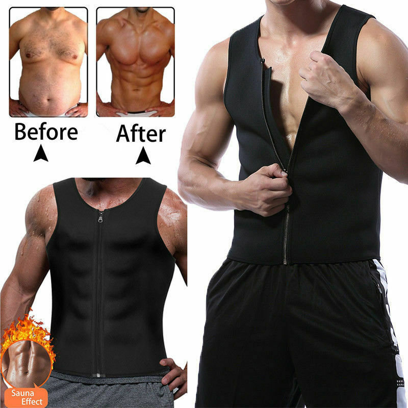 Slim Body Shaper Men Sweat Shirt Gym Neoprene Sauna Vest Sauna Corset Shaperwear Slimming Tank Plus Size 3XL
