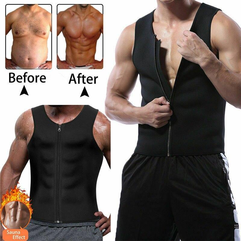 Slim Body Shaper Men Sweat Shirt Gym Neoprene Sauna Vest Sauna Corset Shaperwear Slimming Tank Plus Size 3XL