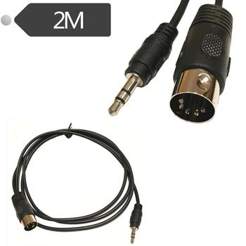 5 Pin Din Plug To 3.5mm Stereo Jack Plug Audio Cable 2m