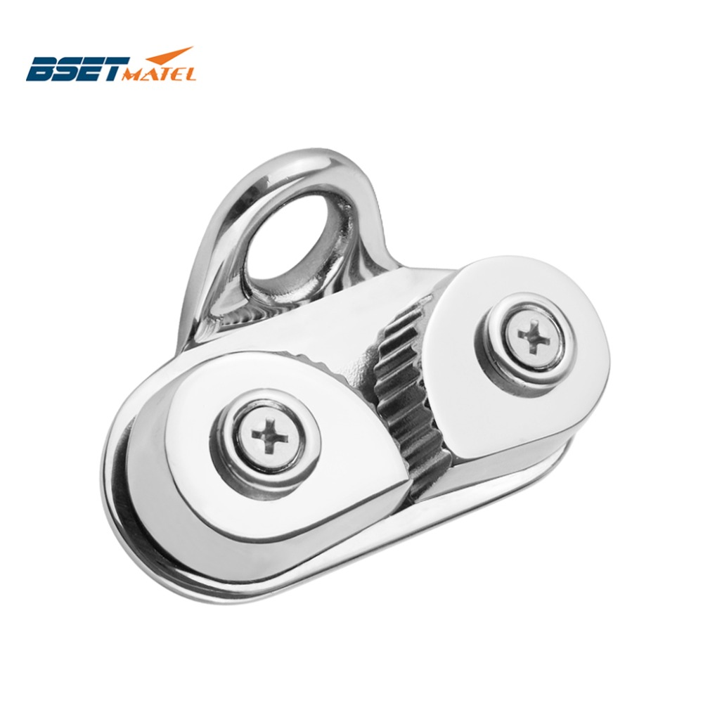 Stainless Steel 316 Cam Cleat With Leading Ring Boat Cam Cleats Matic Fairlead Marine Sailing Sailboat Kayak Canoe Dinghy
