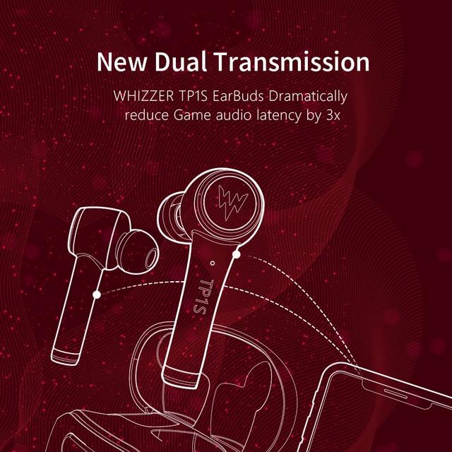 WHIZZER TP1S wireless Bluetooth earphone 3D stereo wireless  5