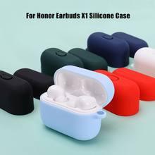 Pour Honor écouteurs X1 étui housse de protection en Silicone antichoc écouteurs étui pour Honor Case doux mince anti-dérapant écouteurs