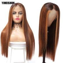 28 30 дюймов с подсветкой Цветной человеческие волосы парики