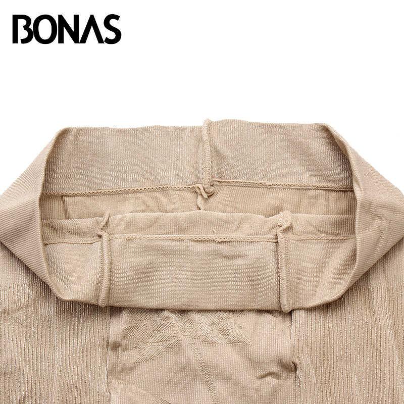 BONAS 20D เซ็กซี่ Breathable Tights ผู้หญิงสูงเอว Sun ป้องกัน Pantyhose T crotch ถุงน่องไนลอนยืด Slim ถุงน่องหญิง