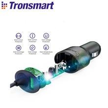 Автомобильное зарядное устройство Tronsmart CCTA 36 Вт PD зарядное устройство быстрое зарядное устройство с USB C кабелем поддержка PD3.0, QC3.0, FCP, Apple 2,4 для iPhone, huawei