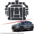 19 шт.  автомобильный Стайлинг для Chevrolet Trailblazer 2020-PresentLatex  слот для ворот  коврик для внутренней двери  противоскользящий пылезащитный коврик  ...