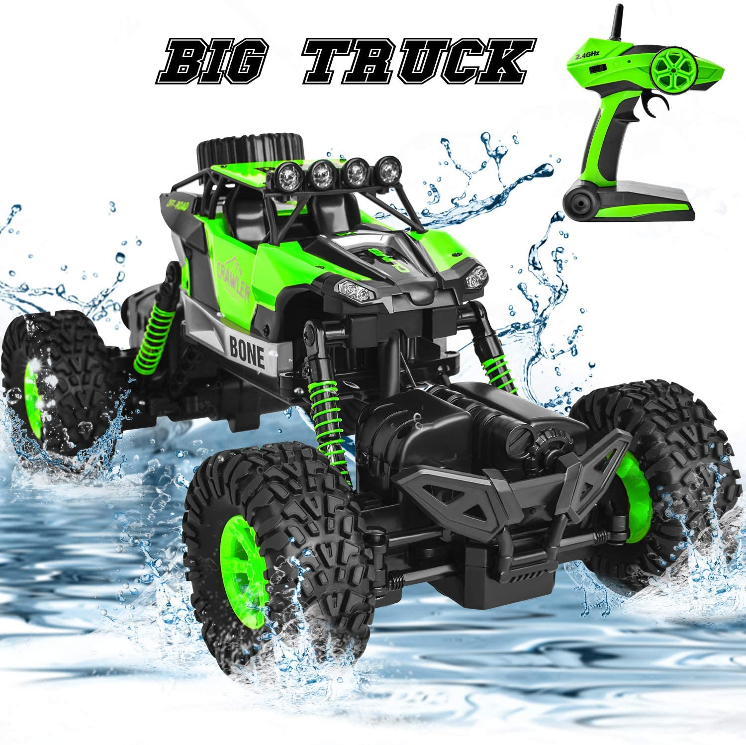 Waterproof Rc Trucks 4x4 Off Road Monster 1 16 4wd Remote Control Trucks Rc Crawler High Speed Racing Hobby Toys For Boys Kids Rc Trucks Aliexpress