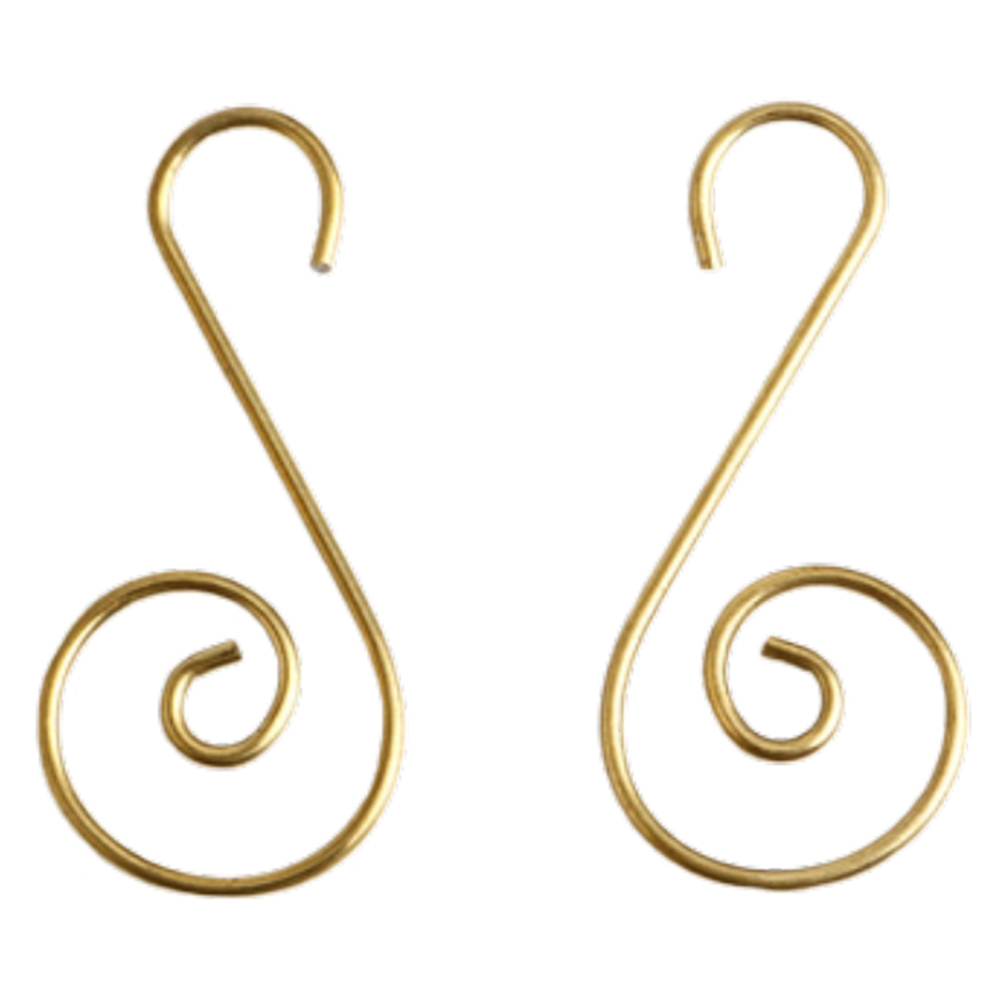 100 Pcs Golden Christmas Wreath Hooks Green Multifunctional S Shaped Steel Hangers For Decorations Christmas Tree