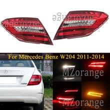 Светильник для Mercedes Benz W204 C180 C200 C220 C260 C280 C300 2011-2014, задний фонарь, стоп-сигнал, автомобильные аксессуары