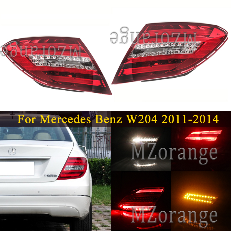 Rear tail light For <font><b>Mercedes</b></font> Benz W204 C180 C200 C220 C260 C280 <font><b>C300</b></font> 2011-2014 tail lights Brake Stop lamp Car Accessories image