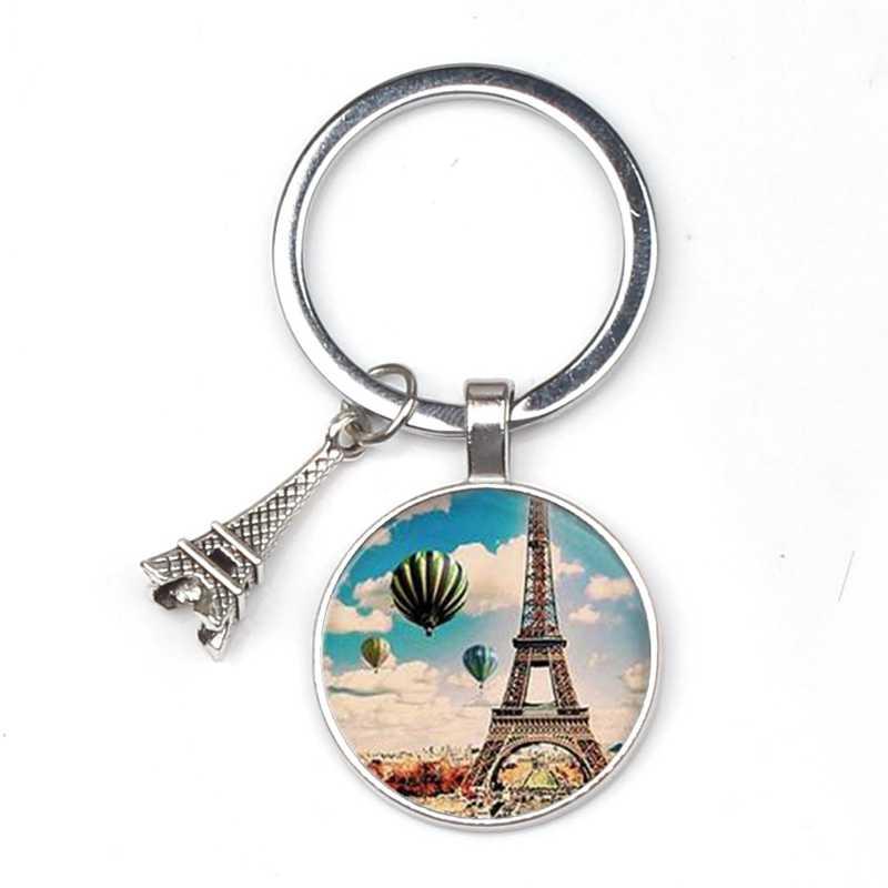 Terbaru Menara Eiffel Laporan Gantungan Kunci Foto Seni Kaca Bevel Liontin Pesona Gantungan Kunci DIY Gantungan Kunci Hadiah Perhiasan