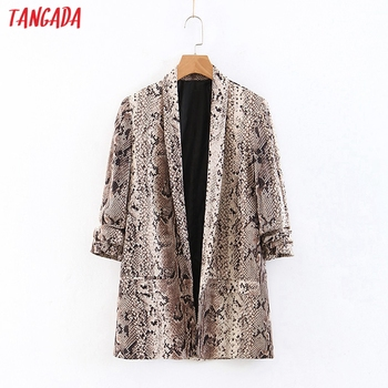 Chaqueta Tangada con estampado de animales para mujer, chaqueta elegante de manga larga con bolsillo para mujer, chaqueta informal para mujer QB213
