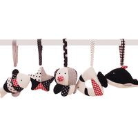 Baby Infant Bed Hanging Fabric Oceans chuang gua jian Bed Bell Car Hanging Plush Black And White Unisex Mainland China