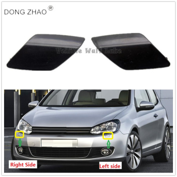 For VW Golf 6 A6 MK6 2009 2010 2011 2012 2013 Car Front Bumper Headlamp Headlight Wash Spray Nozzles Cap 5K0955109 5K0955110 image