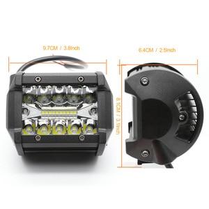 Image 4 - Barra de luz LED de 4 pulgadas Barra de luz de trabajo para conducir fuera de carretera barco coche Tractor camión 4x4 SUV ATV haz combinado 12V 24V nominal 60W real 15W